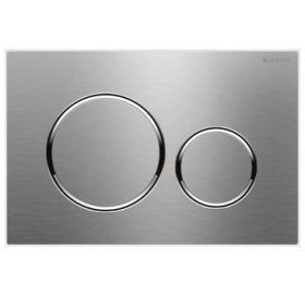 Кнопка смыва Geberit SIGMA 20, двойной смыв, пластик, сталь матовая/полированная/матовая