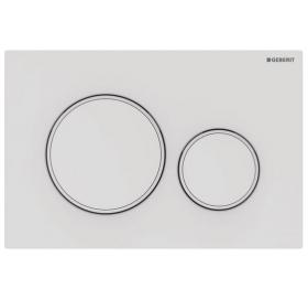 Кнопка смыва Geberit Sigma20 пластик, 115.882.01.1 белый матовый