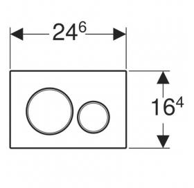 Кнопка смыва Geberit Sigma 20 пластик, 115.882.14.1