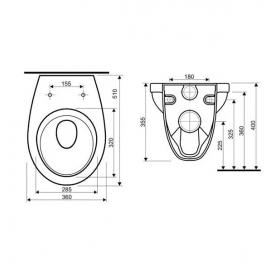 Комплект:  KOLO IDOL унитаз подвесной, инсталляция Geberit Duofix 3в1, сидение полипропилен, M131000