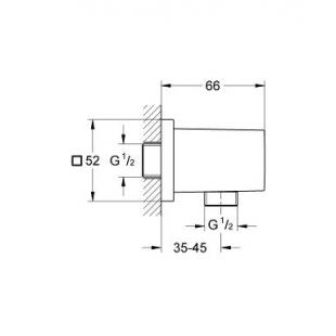 Подключение для душевого шланга GROHE EUPHORIA CUBE, 27704000