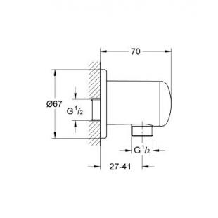 Подключение для душевого шланга GROHE RELEXA, 28671000