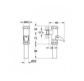 Полноавтоматическое смывное устройство для писсуара Grohe, 37141000