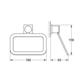 Кольцо для полотенца Grohe Allure 40339000