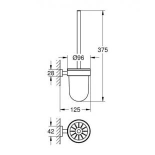 Туалетный ерш GROHE ESSENTIALS CUBE, 40513001