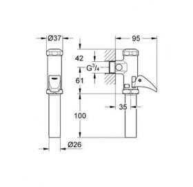 Автоматическое смывное устройство для писсуара Grohe Rondo 37139000