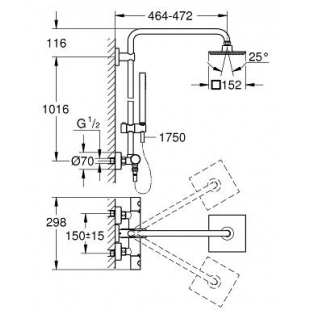 Душевая система с термостатом GROHE Euphoria System 150, 27932000