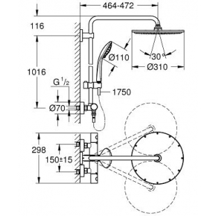 Душевая система с термостатом Grohe Euphoria XXL System 310, 26075000