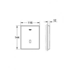 Инфракрасная панель смыва для писсуара Grohe Tectron Skate 37321SD1