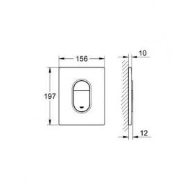 Кнопка смыва для инсталляции Grohe ARENA Cosmopolitan, мат. хром, 38844P00