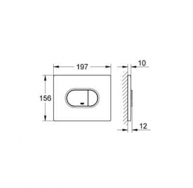 Кнопка смыва для инсталляции Grohe ARENA Cosmopolitan 38858P00, матовый хром