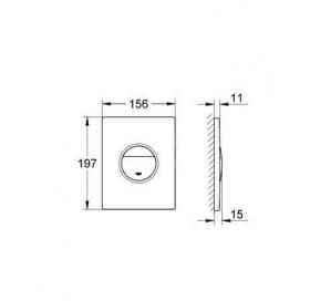 Кнопка смыва для инсталляции Grohe NOVA COSMOPOLITAN 38765SH0, хром