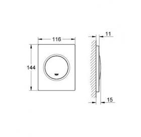 Кнопка смыва для инсталляции Grohe NOVA COSMOPOLITAN 38804000, хром
