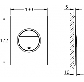 Кнопка смыва для инсталляции Grohe Nova Cosmopolitan S, 37601DC0