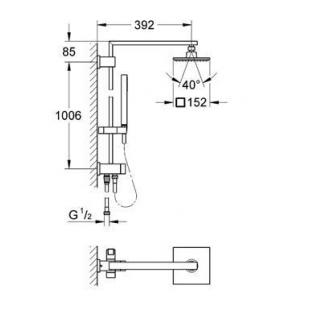 Душевая система с переключателем Grohe Euphoria Cube System 150, 27696000