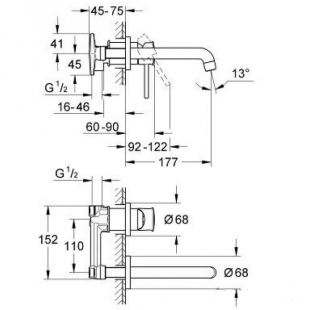 Смеситель для раковины Grohe BauClassic 20292000