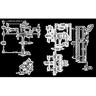Набор смесителей GROHE BauEdge 123208S (23330000 + 32821000 + 27598000)