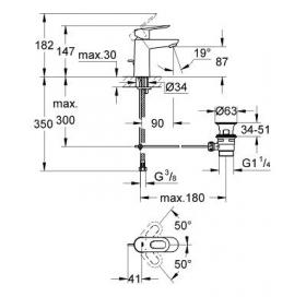 Смеситель для раковины Grohe BauLoop 23335000 S-Size