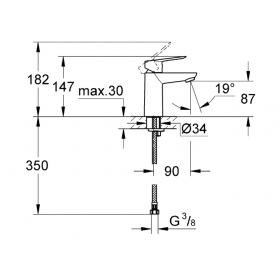 Смеситель для раковины Grohe BauLoop 23337000 S-Size