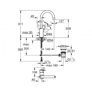 Смеситель для раковины Grohe BauLoop 23763000 L-Size