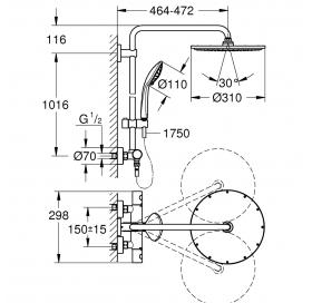 Душевая система с термостатом для настенного монтажа Grohe Euphoria System 310 26075AL0