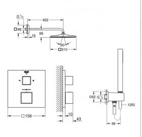 Душевой набор GROHE GROHTHERM SMARTCONTROL 26405SC0