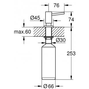 Дозатор жидкого мыла GROHE, хром, 40535000