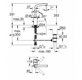 Смеситель для раковины Grohe Concetto 23739002 L-Size