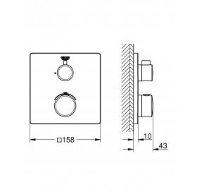 Смеситель термостат для душа Grohe Grohtherm 24078000