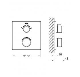 Смеситель термостат для душа с переключателем на 2 положения ванна/душ Grohe Grohtherm 24080000