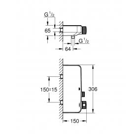 Смеситель-термостат для душа Grohe Grohtherm SmartControl, 34719000