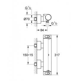 Смеситель-термостат для душа Grohe GROHTHERM 2000 NEW, 34469001