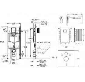 Инсталляционная система GROHE Rapid SL 4 в 1, 3884000S