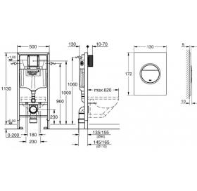 Инсталляционная система GROHE Rapid SL, 39581000