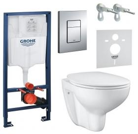 Комплект Grohe Solido 4 в 1 с унитазом Bau Ceramic, 39586000