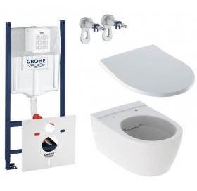 Комплект: Инсталляция Grohe Rapid SL 3в1 (3884000G) + Унитаз подвесной Geberit iCon (500.784.01.1) +