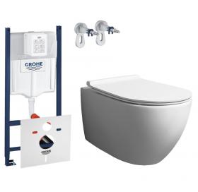 Комплект: Инсталляция Grohe SL 3в1 (3884000G) + Унитаз подвесной Simas Vignoni (VI18) + Крышка Soft-