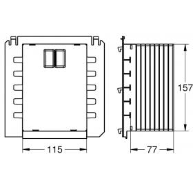 Ревизионный короб для крепления малых панелей смыва Grohe, 40911000