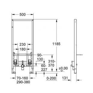 Инсталляционная система для биде  Grohe RAPID SL + крепёж к стене в подарок, 38553001