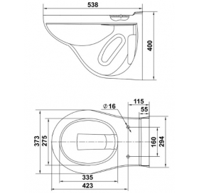 Комплект: Инсталляционная система Grohe Rapid SL + Керамин Гранд-N ЖС, с сидением дюропласт, 3872200
