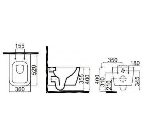 Комплект: Инсталляционная система Grohe Rapid SL + подвесной унитаз IDEVIT Halley Iderimless, 387720