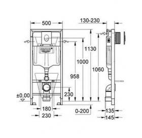 Комплект: инсталляция Grohe Rapid SL + подвесной унитаз Bau Ceramic, 39427CB0