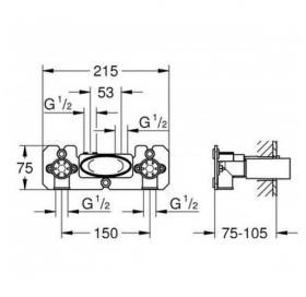 Скрытая часть смесителя Grohe SmartControl 26449000