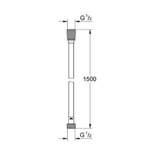 Душевой шланг Grohe Silverflex 28364000