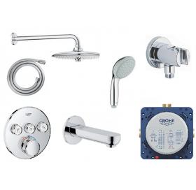 Комплект скрытого монтажа GROHE SmartControl для ванны и душа на 3 потребителя, 34614SC3