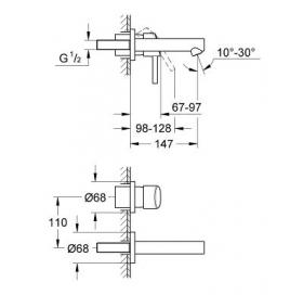 Смеситель для раковины Grohe Concetto 19575001 S-Size