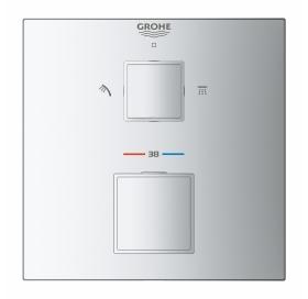 Внешняя часть смесителя на 2 выхода Grohe Grohtherm Cube, 24155000