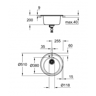 Кухонная мойка Grohe K200 31656AT0