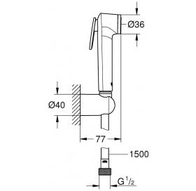 Гигиенический комплект Grohe Tempesta-F Trigger Spray 26353000