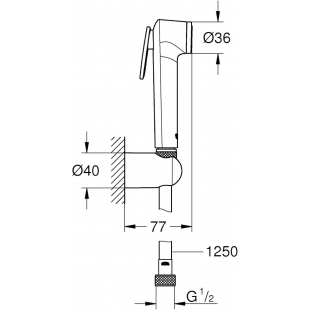Гигиенический душ Grohe Tempesta-F Trigger Spray 30 26356IL0